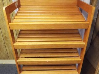 wood baker s rack on wheel s  31  W  21  D  60 5  T