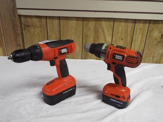 2  Black and Decker drill s