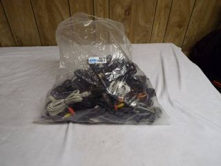 lot of various electric cord s