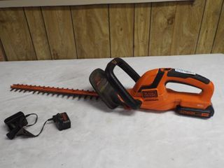 Black and Decker 22  hedge trimmer with charger