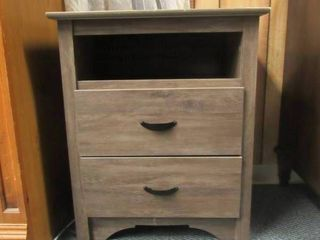 Tan 2 drawer night stand  23  W  16  D  28  T