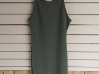 Rainbow green spagehtti strap dress  size small