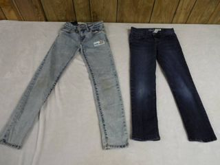 2 girl s skinny jean s  size 7 and 8 reg