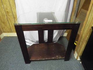 Glass top entertainment center  30  W  18  D  30  T