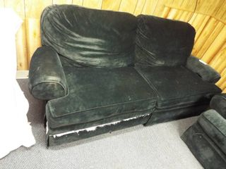Green reclining couch