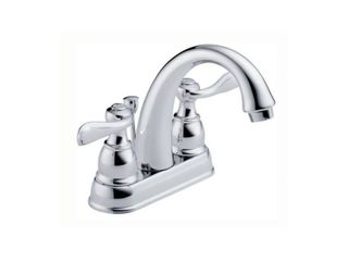 Delta Windemere 2 Handle 4 In  Centerset Bathroom Faucet With Pop Up RETAIl  89 00