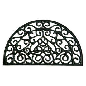 allen   roth Black Semicircle Door Mat  Common  18 in x 30 in  Actual  17 9 in x 29 9 in  RETAIl  16 98