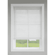 levolor 1 in Cordless White Vinyl Room Darkening Mini Blinds Cut To 29  X 64  RETAIl  27 97