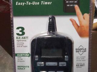 PRIME EZ Set 2 Outlet Plug In Countdown lighting Timer  18 48
