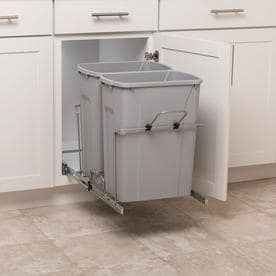 Simply Put 35 Quart Plastic Pull Out Trash Can RETAIl  59 98
