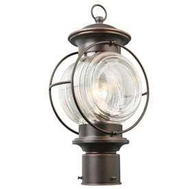 Portfolio Caliburn 15 25 in H Oil Rubbed Bronze Post light RETAIl  39 98