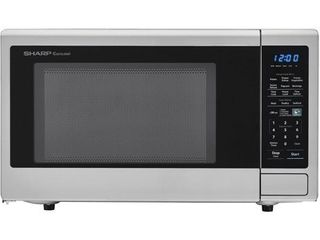 Sharp 1 8 Cu Ft Stainless Steel Microwave Oven  certified Refurbished   used