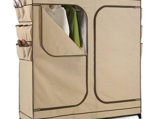 Honey Can Do Wardrobe Storage Closet  Khaki