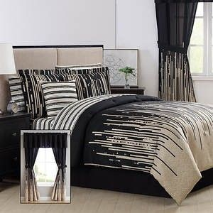 Patterned 24 Piece Bed In A Bag Set  king