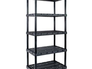 Gracious living Knect A Shelf 72 in  H x 36 in  W x 24 in  D Resin Shelving Unit   Case Of  1