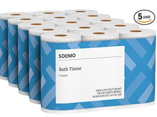 Premium Toilet Paper Rolls Bathroom 2 ply 350 Sheets Bath Per Roll 6 Count Soft Box of 30 Rolls