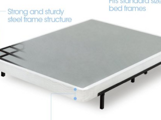 Zinus 5 Inch low Profile Smart Box Spring   Mattress Foundation   Strong Steel  Twin