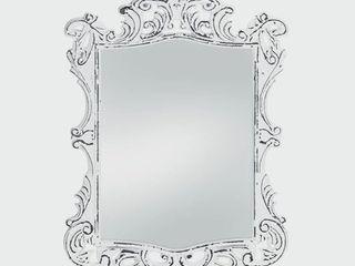 Royal Antique Style White Wall Mirror   Antique White Retail 116 99