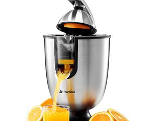 Eurolux Elcj 1700 Electric Citrus Juicer Squeezer Stainless Steel 160 Watts