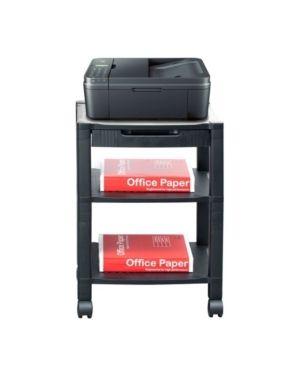 Mind Reader 3 Shelf Printer Cart  Stand with Wheels  Drawer  Cord Management  Black