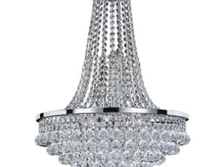 Glow lighting Vista 8 light Chrome Glam Crystal Chandelier