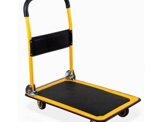MaxWorks 80876 Foldable Platform Truck Push Dolly 330 lb  Weight Capacity with Swivel Wheels