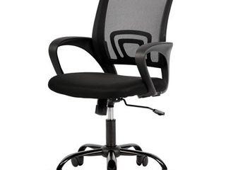 Mesh Office Chair Desk Chair Computer Chair Ergonomic Adjustable Stool Back Support Modern Executive Rolling Swivel Chair for Women   Men  Black