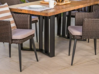 Zander Outdoor 2 Piece Dining Chairs by Christopher Knight Home