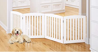 Pawland 4 Panel Dog Gate with Arched Top
