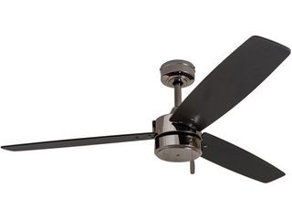 Prominence Home Journal Indoor Outdoor Ceiling Fan  Damp Rated  Contemporary  Gun Metal   52 inch Retail 118 99