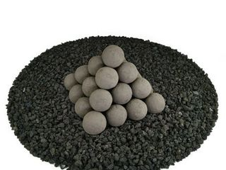 2 Inch Charcoal Gray  Regular Ceramic Fire Balls for Indoor   Outdoor Fire Pits or Fireplaces Retail  89 99