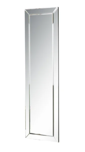 loft Silver Modern Rectangle Wall Mirror by Abbyson  Retail 129 99