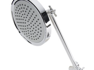 Keeney K731CP Stylewise Single Function Shower Head with Adjustable Arm  Polished Chrome