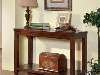 Furniture of America Ambelle Transitional Dark Cherry Sofa Table  Retail 278 99