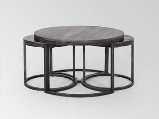 Gerrish Modern Industrial Coffee Table Set by Christopher Knight Home  Retail 251 09