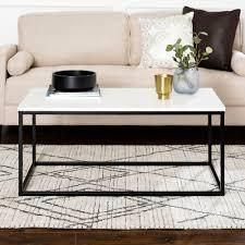 Carbon loft Geller Metal Frame Coffee Table   42 x 24 x 18h  Retail 144 49 white and black faux marble