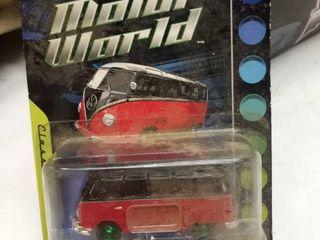 Motorworld Volkswagen Samba bus VW red and black