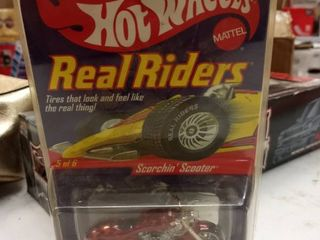Hot Wheels by Mattel real Riders scorchin scooter series 3