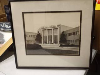 framed picture of the Kansas City assembly plant Ford