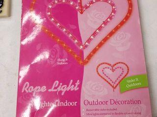 rope light decoration indoor outdoor double heart
