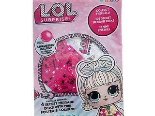 approximately 9 lOl Surprise Secret Disks  4 Secret Disks with Mini Poster   lollipop