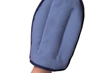HealthSmart Arthritis Pain Relief for Hands  Microwavable Heating Pad Mitt for Moist Heat Pain Relief Therapy  Arthritis and Carpal Tunnel Syndrome  Hand and Wrist Heating Pad  Blue