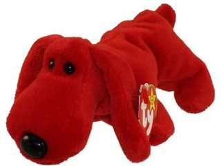 TY Beanie Baby   ROVER the Red Dog  6 5 inch