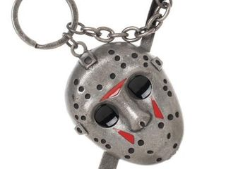 2 Friday the 13th 3 D Keychain with Machette Charm