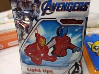 4 Marvel Avengers light Up Dangler   Sticker 1 Sealed Blind Pack