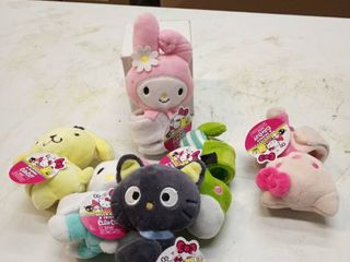 lot of Hello Kitty and friends cutie cuffs multiple colors and designs