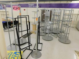 Rolling Metal Display Stands