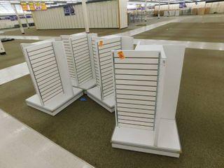 4 White Rolling Floor Displays