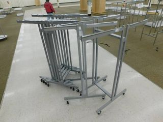 lot of 6 Rolling Clothes Displays
