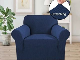 PrimeBeau 1 Piece Jacquard Stretchy Slicpver Chair Size   7565
